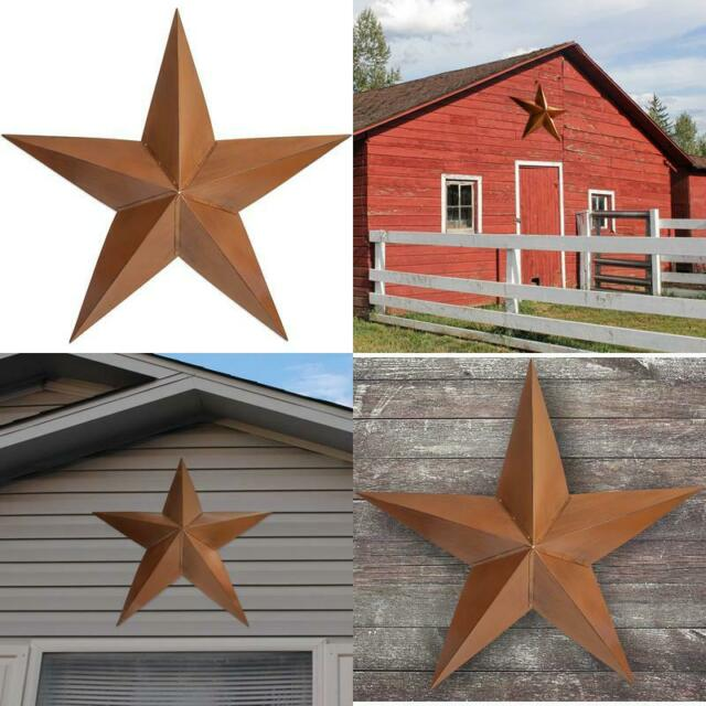 36 Rustic Dimensional Barn Metal Star Shed Garage Home Accent Decor For Sale Online Ebay