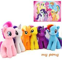 "7"" Plush My Little Pony Doll Applejack Rainbow Figure Animal Stuffed Soft Toys"