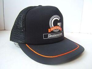 Image is loading Good-Wear-Bridgestone-Snapback-Trucker-Hat-Vintage-Black- bc60582da4f4