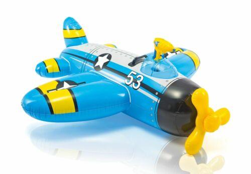 Bleu Avion avec Pistolet à Eau Gonflable Enfants Jouet pour Piscine de Plage