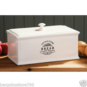 kitchen bread storage vintage home kitchen loaf bread box ceramic bin 2329