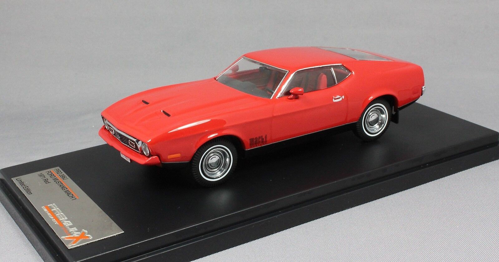 Premium X Ford Mustang Mach 1 in Red 1971 PRD396J 1 43 NEW Limited Edition