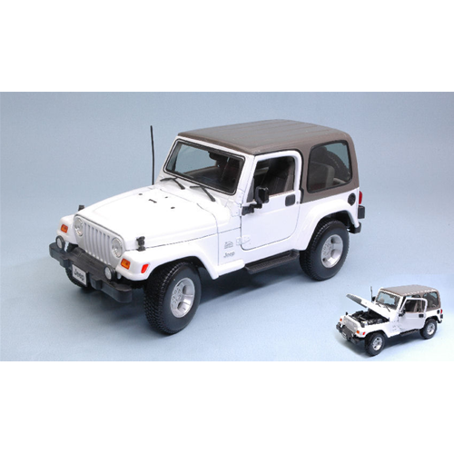 JEEP WRANGLER SAHARA 2007 HARD TOP bianca  1:18