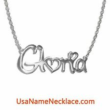 Personalized Name Necklace In Silver  - Any Name necklace . Name Jewelry
