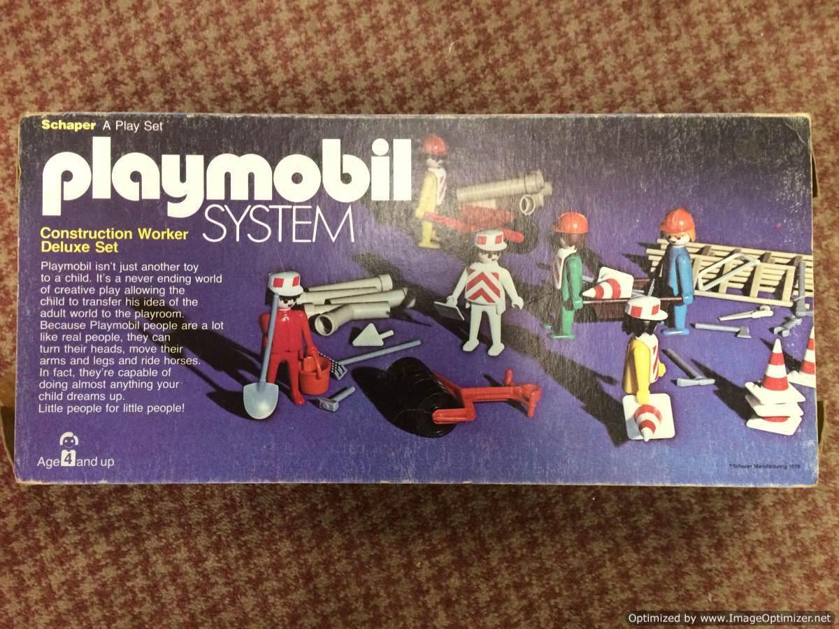 Playmobil System Bauarbeiter Deluxe Schaperkrug 1976
