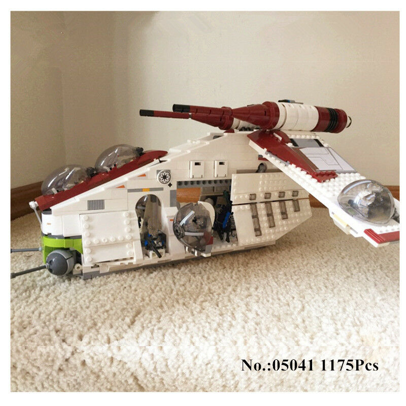 Building Toy 05041 Star 1175Pcs Series  Republic Gunship Set  Compatible 75021