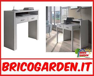 Scrivania pc computer scrittoio tavolo a scomparsa con cassetti design moderno ebay - Scrittoio moderno design ...