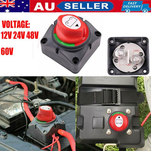 4 X 12V 24V MARINE CARAVAN TRUCK BOAT 4WD BATTERY ISOLATOR SWITCH /& 2 KEYS