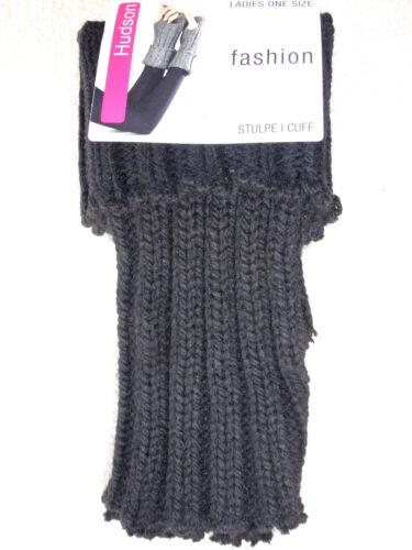 HUDSON Damen Armstulpen Strickstulpen mit Umschlagbund Daumenöffnung Stulpe NEU