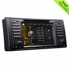 "SINGLE DIN 7"" Car Radio DVD Player GPS Nav SAT Bluetooth MP3 WIFI FOR BMW E39 b"