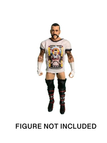 WWE CM Punk /'Second City Saint/' Custom Shirt For Mattel Figures.