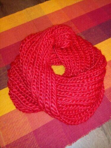 Winter Schall Loop; Rot;kuschelige Viscose; Neu!