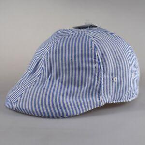 Atlantis Gatsby Stripes Pinstripe Ivy Flat Cap Hat White   Royal ... 90e617cf4b6