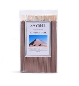 Egyptian-Musk-Woody-8-034-Incense-Sticks-Agarbatti-Long-Burning-x-100-by-Saysell