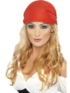 c2275db51caa Perruque de Pirate Blonde avec Tresse Dames Foulard tête Femme   eBay