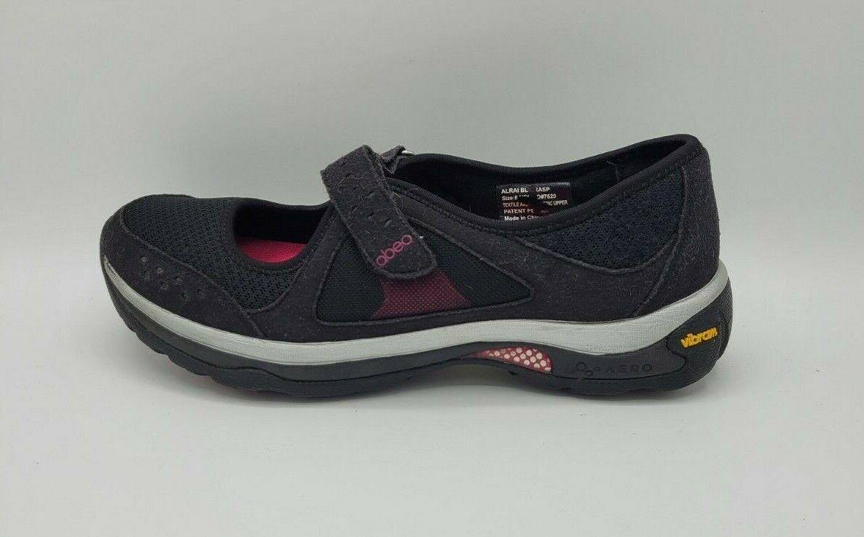 Abeo Women Alrai Aero Black Mary Jane Athletic Walking Vibram Sole Shoes 8 M