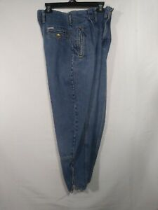 Vtg-80s-Georges-Marciano-for-Guess-Denim-Jeans-Tapered-31-33-Zip-High-Waist