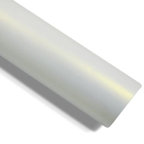 Matte Perlmutt-Weiß Gold Effekt Autofolie 152 cm x 10 Meter Luftkanäle