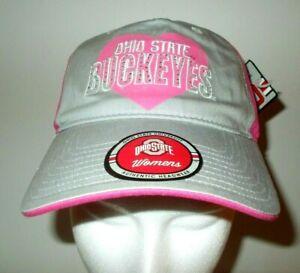 Details About Osu Ohio State University Buckeyes Women S Adjustable Baseball Hat Cap