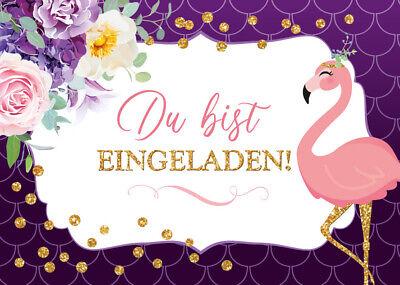 einladungskarten zum kindergeburtstag flamingo einladungen