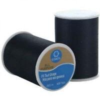Black Coats & Clark All Purpose Thread 400 Yard Spool - Various Quantity Options