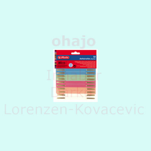 Recycling-Karton RC 100 herlitz Heftstreifen 34 x 150 mm, farbig sortiert