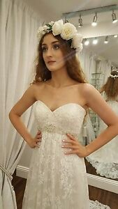 Kenneth winston 1618 blush pink wedding dress diamante belt long image is loading kenneth winston 1618 blush pink wedding dress diamante junglespirit Gallery