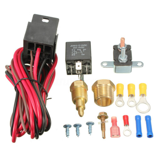185~200 Degree Engine Cooling Fan Thermostat Temperature Switch Sensor Relay 12V