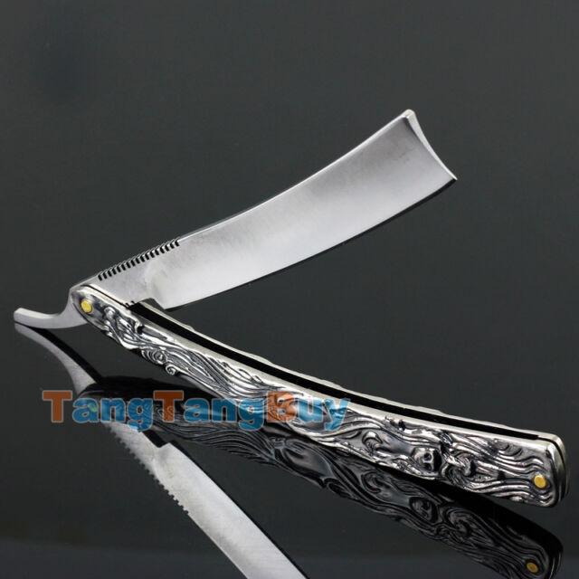 Aluminum Shaving Barber Razor Knife Straight Edge Folding Stainless Steel Kinfe