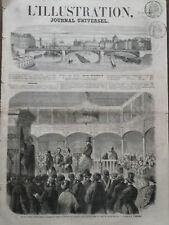 L' ILLUSTRATION 1856 N 707 SERVICE FUNEBRE A LA SYNAGOGUE DE GALATA en TURQUIE