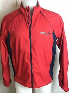 RARE-NEW-RLX-Ralph-Lauren-Mens-Large-L-Tour-Issue-Red-Blue-Golf-Rain-Jacket-Vest