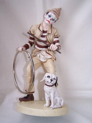 Restposten * Clown Beppo mit Hund und Springreifen