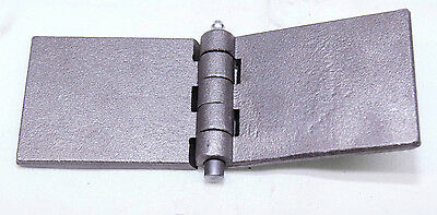 1 X Heavy Duty Steel (6.2mm Thick) Weld On Hinge With Greasable Pin Trailer Gate