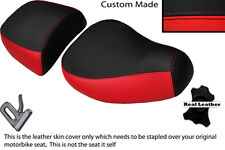 BLACK & BRIGHT RED CUSTOM FITS PIAGGIO VESPA LXV 125 150 FRONT REAR SEAT COVERS
