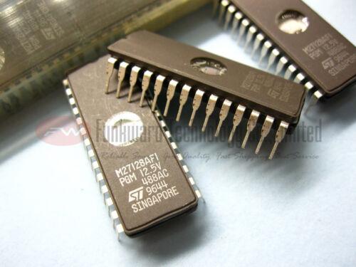 NOS ST M27128AF1 M27128A 27128 128KBIT UV EPROM 100NS x 10pcs