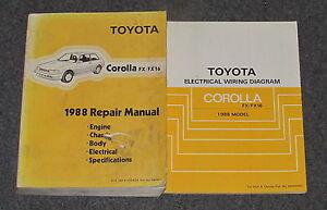 1988 toyota corolla fx fx16 service repair manual set ebay rh ebay com 1978 Toyota Corolla GT 1988 Toyota Corolla GTS