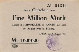 Annen-Savings-Bank-1-Million-Mark-Stpl-3143