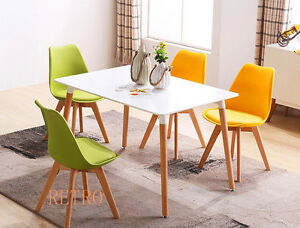 Dining-table-and-4-tulip-chairs-retro-DSW-Eiffel