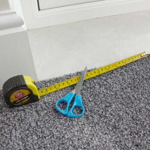 Gris Foncé antidérapante Runner Tapis lavable entrée tapis de coupe pour mesurer Hall coureurs