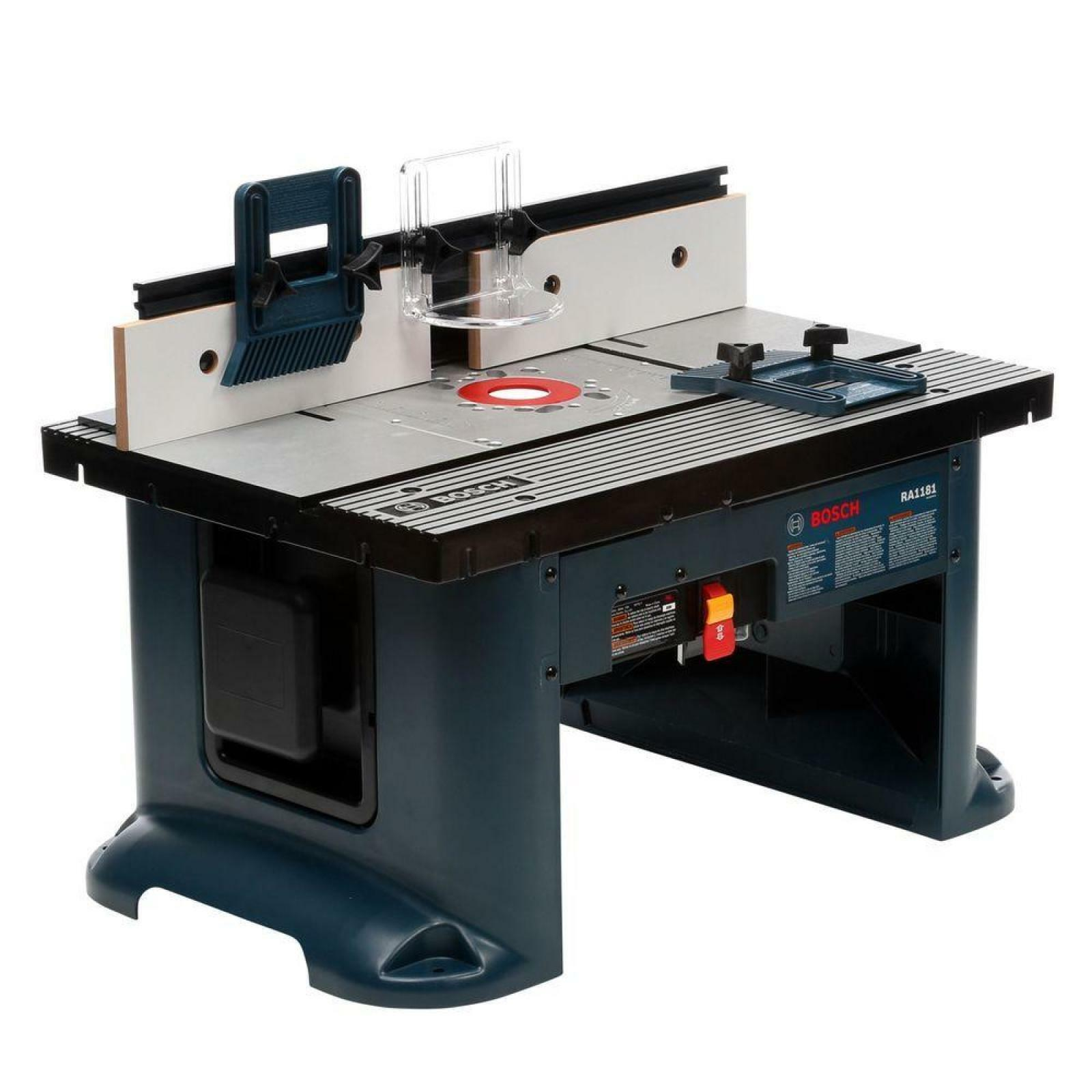 Bosch 15 Amp Corded 27 in x 18 in Aluminum Top Benchtop Router Table with 2-1