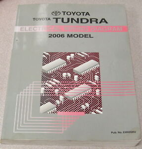 2006 toyota tundra truck electrical wiring diagram service manual ebayimage is loading 2006 toyota tundra truck electrical wiring diagram service