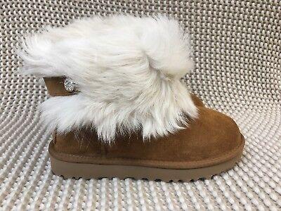 UGG Australia Valentina Shearling Cuff Boots Chestnut Brown 1012388 Women Size 7