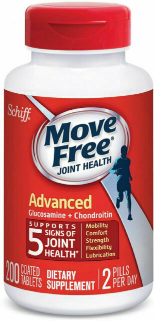 Schiff Move Free B075GBDTG3 Joint Health Supplement 200 Tablets Best By 8/1/2021