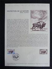 FRANCE CEF 1974 BISON WISENT ERSTTAGSBLATT SAMMELBLATT DOCUMENT z939