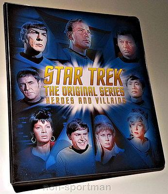 STAR TREK ORIGINAL HEROES & VILLAINS BINDER WITH P3