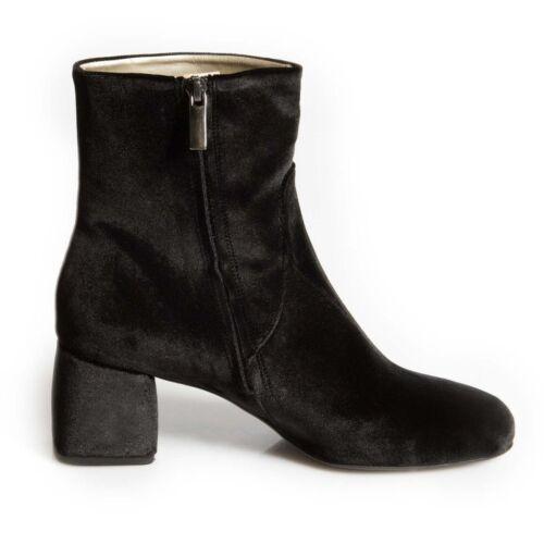 Free Shop Scarf Eu40 Velvet Boot Ladies £199 Womens Black Clearance Ankle Rrp vwZ78WFqW