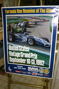 WATKINS-GLEN-POSTER-1992-FORMULA-1-REUNION-25-X-32-FULL-COLOR-DAN-GURNEY