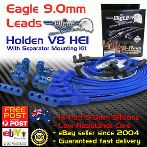 Eagle-9mm-Around-Rocker-Cover-Spark-Plug-Leads-Fits-Holden-V8-HEI-308-Mounting