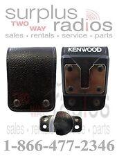 Kenwood OEM KBH-13DS Leather swivel belt loop TK3360 TK2140 TK3140 TK2170 TK3170