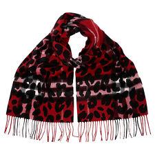 Burberry Animal Print Check Cashmere Scarf - Parade Red Check